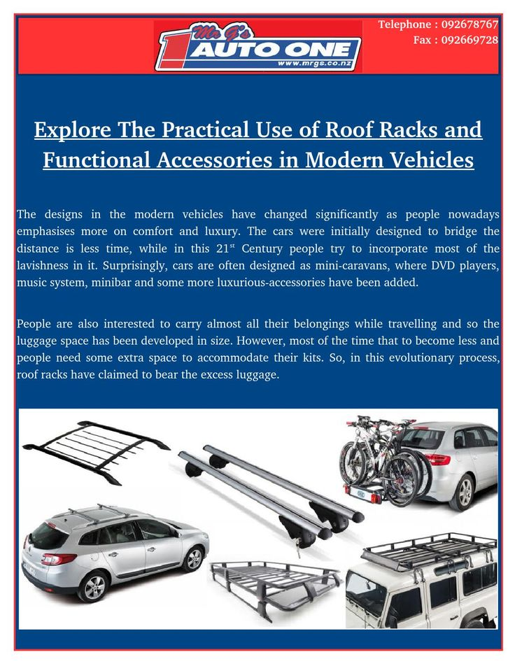 Importance and necessity of Roof Racks, i.e. van roof racks, kayak holders, CRUZ roof racks and trade racks are gigantic.