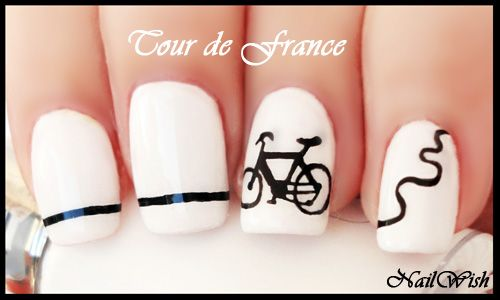 Nail Wish: Summer Challenge Day 38: Tour de France