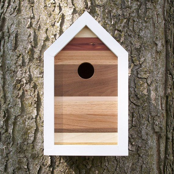 modern contemporary reclaimed wood birdhouse by. Black Bedroom Furniture Sets. Home Design Ideas