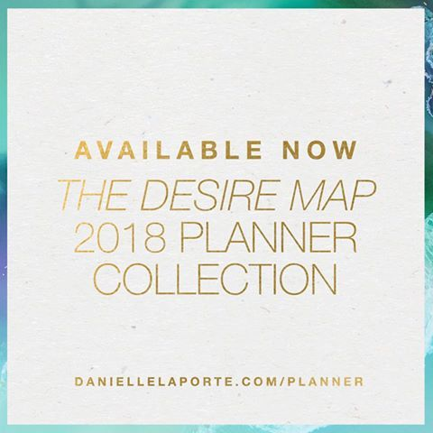The 2018 Desire Map Planner Collection is SHIPPING NOW.