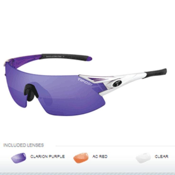 Tifosi Podium XC Interchangeable Sunglasses - Clarion Mirror Collection - Crystal Purple