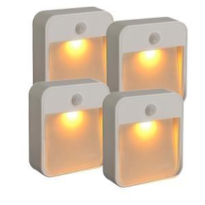 mr beams 20lumen stick anywhere amber led light 4pack