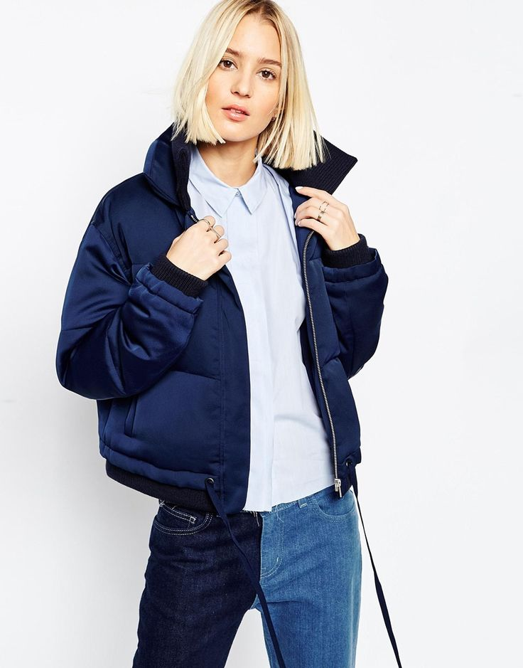 Yes please to this ASOS WHITE Padded Jacket In Satin <3