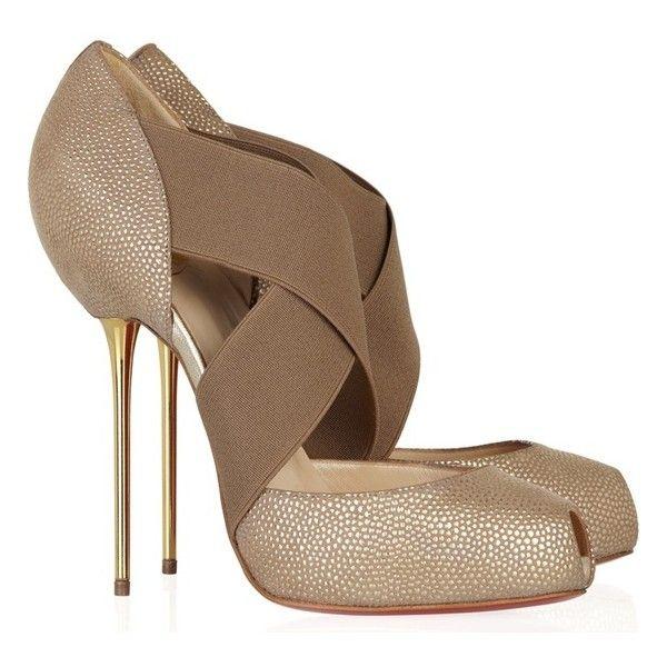 Бежевая обувь на осень via Polyvore