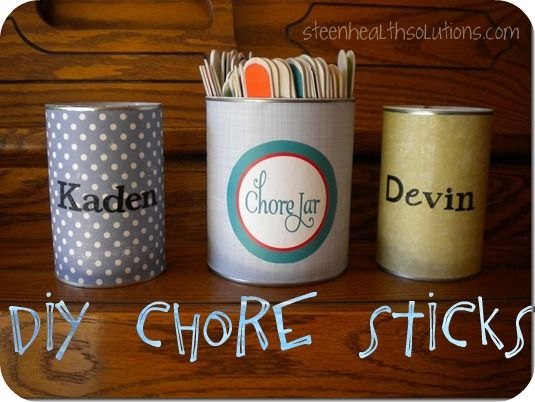 Easy DIY Chore Systems that Work- Great ideas for chores and household tasks that motivate kids and get them excited.