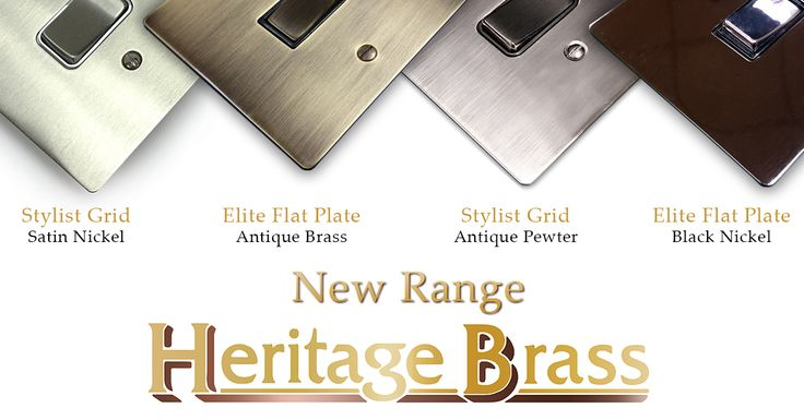 Heritage Brass have a new range and it's available on our site. Head over and have a look.