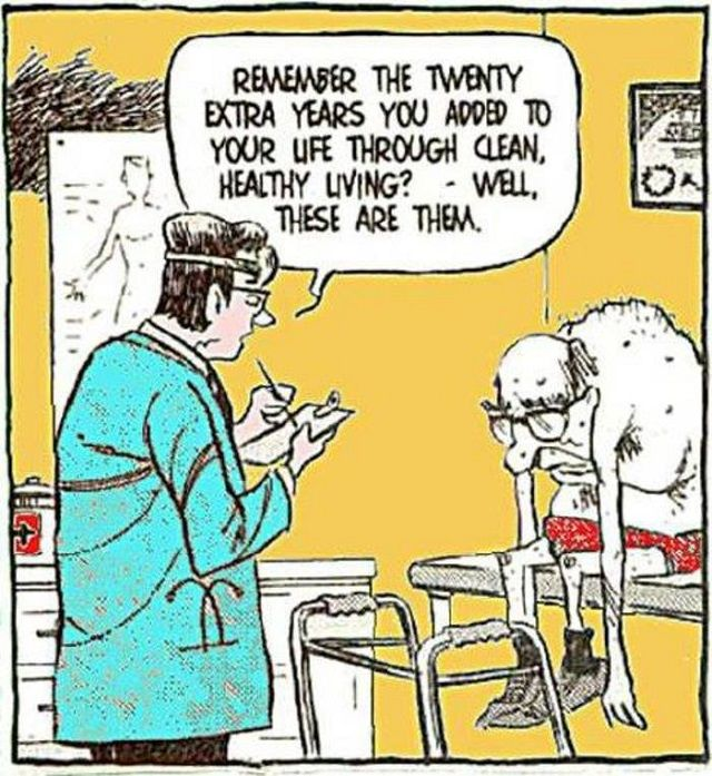 Funny - Cartoons - Elderly