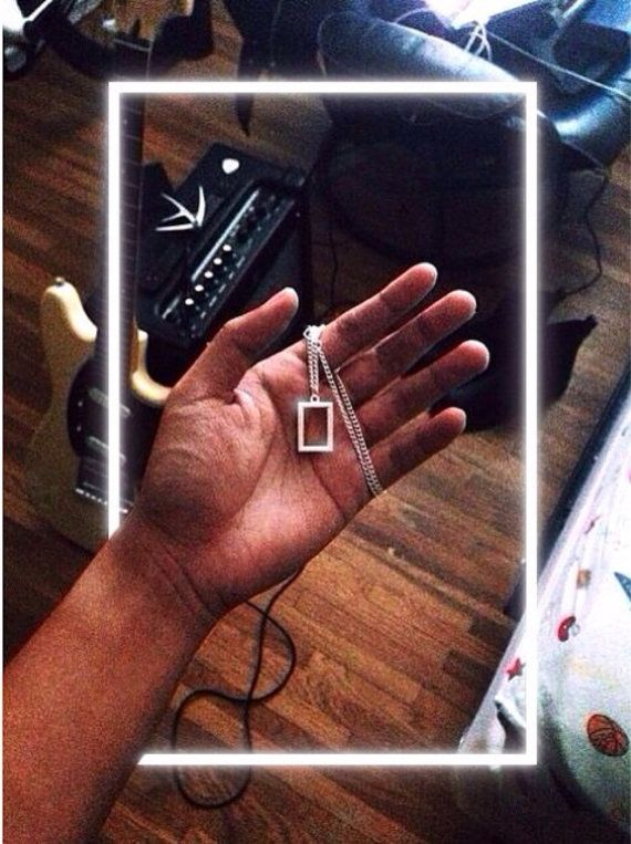 I need their necklace. #the1975  (But it was $175 at their concert so im crying.)