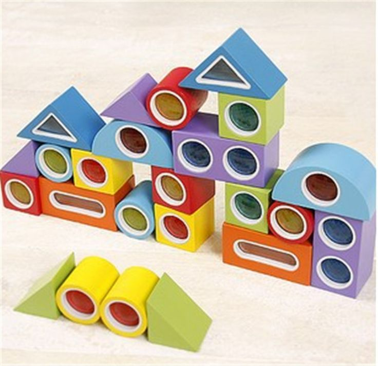 New Wooden Blocks Toy Kaleidoscope Rainbow Blocks Baby Educational Toy Baby Gift Tot Free Shipping