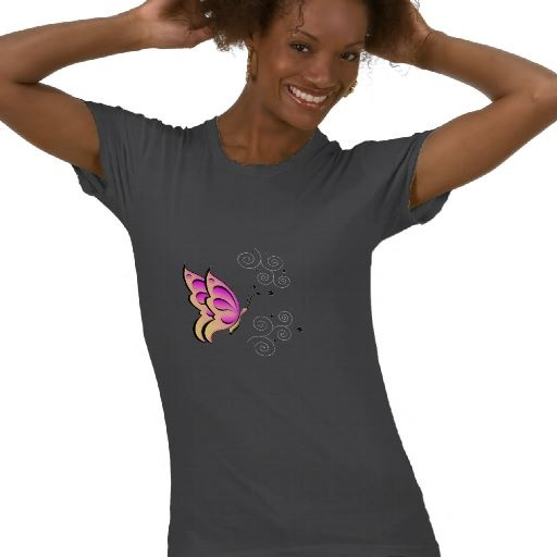 Butterfly and Swirls Shirt by elenaind:  T-Shirt, God Love, Real Women,  Tees Shirts, Keep Calm, Running Shirts, T Shirts, Tshirt, Jesus Love