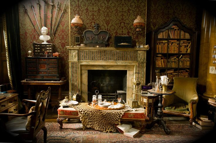 """FILM DECOR. """"The film is set when the British Empire is at its height. There was a sense of being on the cusp of the modern age... a growing engagement in technologies of the near future, and this sense of wonderment. They're verging on all these incredible things.""""       —Robert Downey Jr. /Sherlock Holmes (LOTS more to look through!!)"""