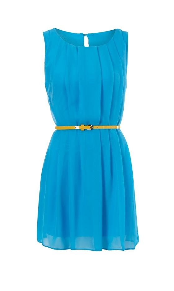 Vestido azuuul, del color que tiene el maaaaar... Primark, primavera verano 2012. Quiero.