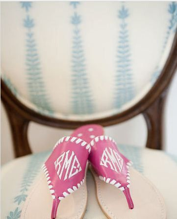 Monogrammed Jack Rogers? Yes please.: Jack Rogers, Chanel Pearls, Jack Rodgers, Fashion Style, Monograms Jack, Heart Earrings, Bridesmaid Shoes, Jack O'Connel, Monograms Sandals