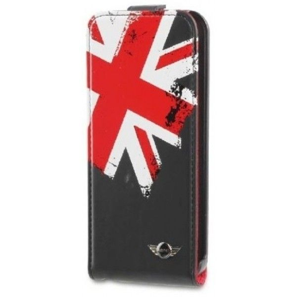 Mini Flip Case Black Washed Out Union Jack voor Apple iPhone 5S / 5