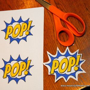 Comic Book Word Bubble Printables | AllFreeHolidayCrafts.com
