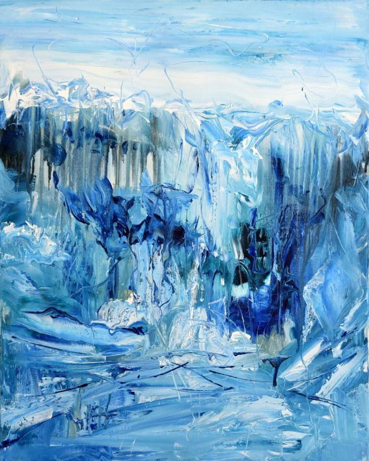 Buy Frozen, a Acrylic on Canvas by Radek Smach from Czech Republic. It portrays: Abstract, relevant to: snow, blue, contemporary, abstract, frozen, ice, landscape Original abstract layered painting on canvas. Ready to hang. No framing required (it can be framed). The sides of the painting are painted. Signed on the back
