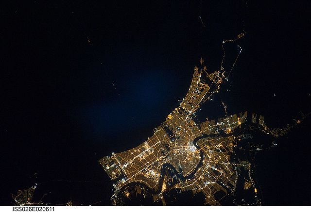 New Orleans at Night (NASA, International Space Station, 01/26/11) by NASA's Marshall Space Flight Center, via Flickr