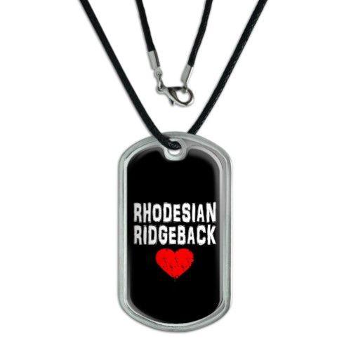 Rhodesian Ridgeback Love - Black Dog Tag https://Rumtreiberin.com