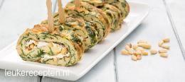 Omeletrolletjes met spinazie