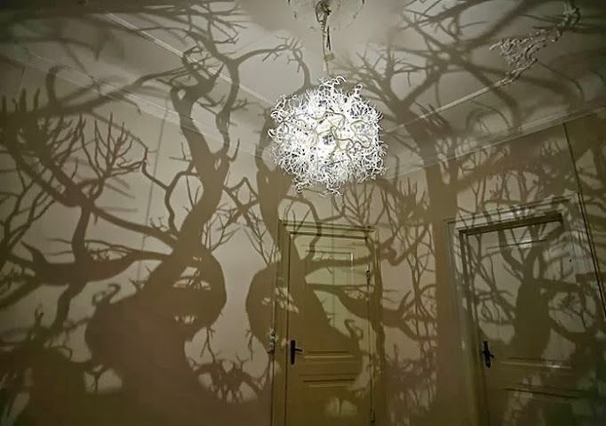 You can create a rustic light fixture out of tree branches by cutting and grouping them together to form a natural chandelier (That's a cheap and cool way to decorating ...
