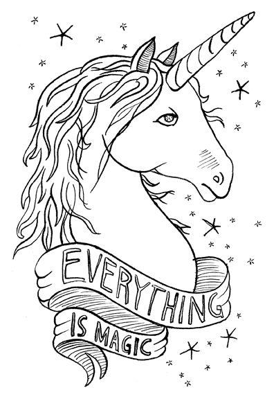 unicorn illustration | everything is magic | Laura Szumowski