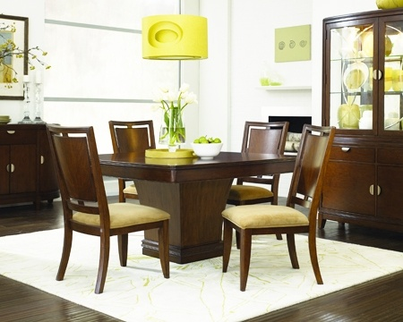 Skyline pedestal dining room sku 9903159 table 54 w x for Dining room tables 36 x 54