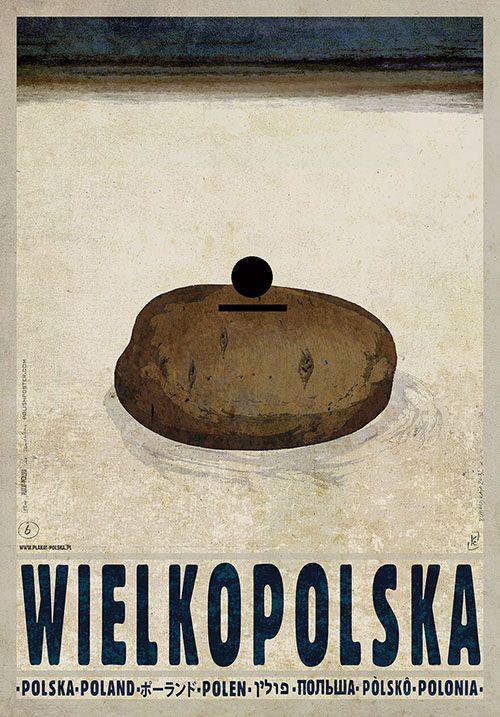 Wielkopolska, Polish Poster, Ryszard Kaja #wielkopolska #poland #poster #polska #pologne #ryszardkaja #seeuinpoland #visitpoland
