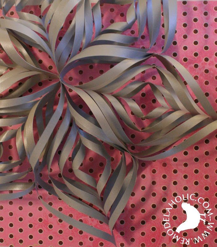 Twisted Paper Snowflake Ornament