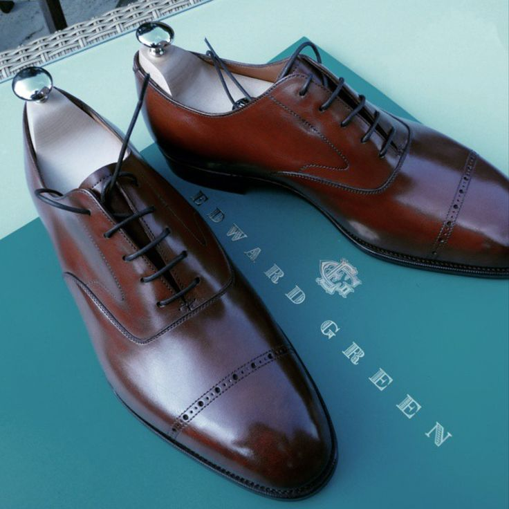 Brown cap toe oxford from Edward Green.