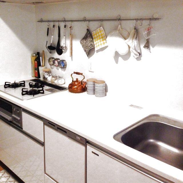 無印良品/つっぱり棒/キッチンのインテリア実例 - 2014-02-03 17:19:52 | RoomClip(ルームクリップ)