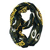 NFL Green Bay Packers Sheer Infinity Scarf One Size Green