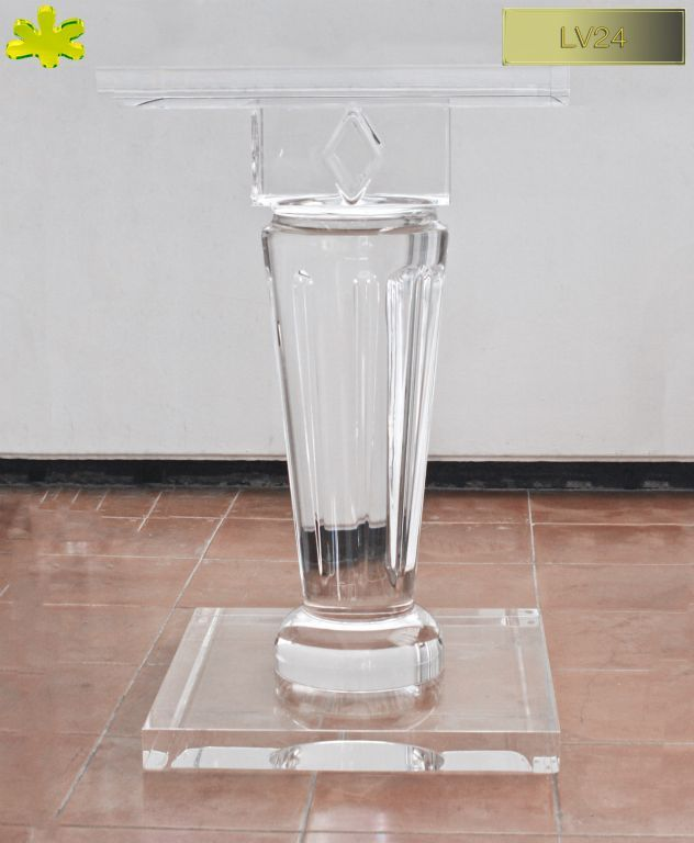 COLONNE IN PLEXIGLAS | Colonna in plexiglass 03.mod  LV24    | Colonne plexiglass fusto diam.cm.20 - piani cm.45 x 45 sp.cm.4 - h.tot.cm.75