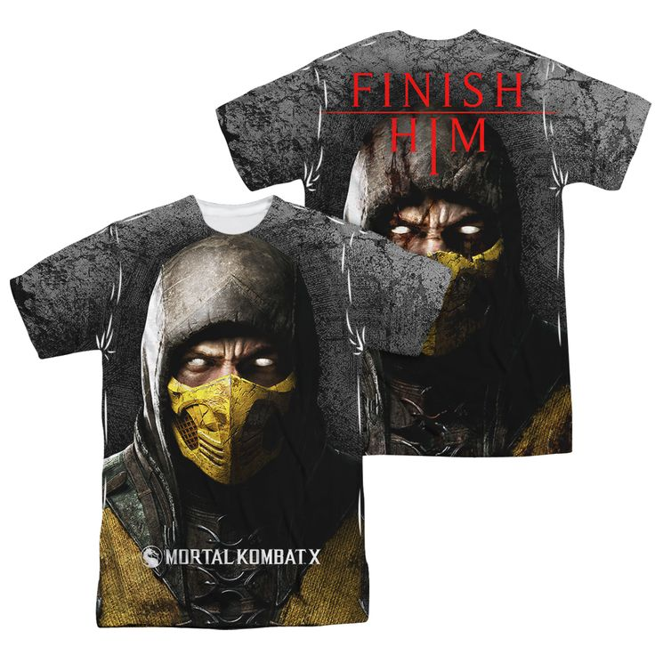 Dorkees.com - Mortal Kombat: Finish Him   Sublimated T-Shirt, $30.00 (http://www.dorkees.com/mortal-kombat-finish-him-sublimated-t-shirt/)
