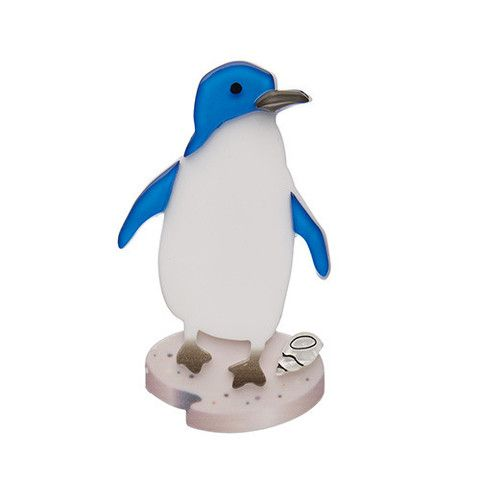 """Erstwilder Limited Edition Happy Feet Brooch. """"Emperor King Royal or... Fairy? All I know is that my friends and I just love to dance and have fun. And fish. We also love fish."""""""