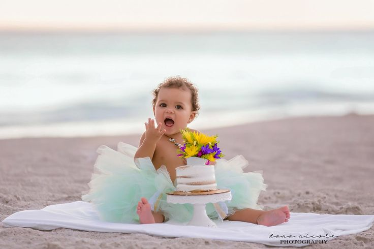 Cake Smash and First Birthday Photo Session at Indian Rocks Beach in St. Pete   Dana Nicole Photography   Tampa, FL