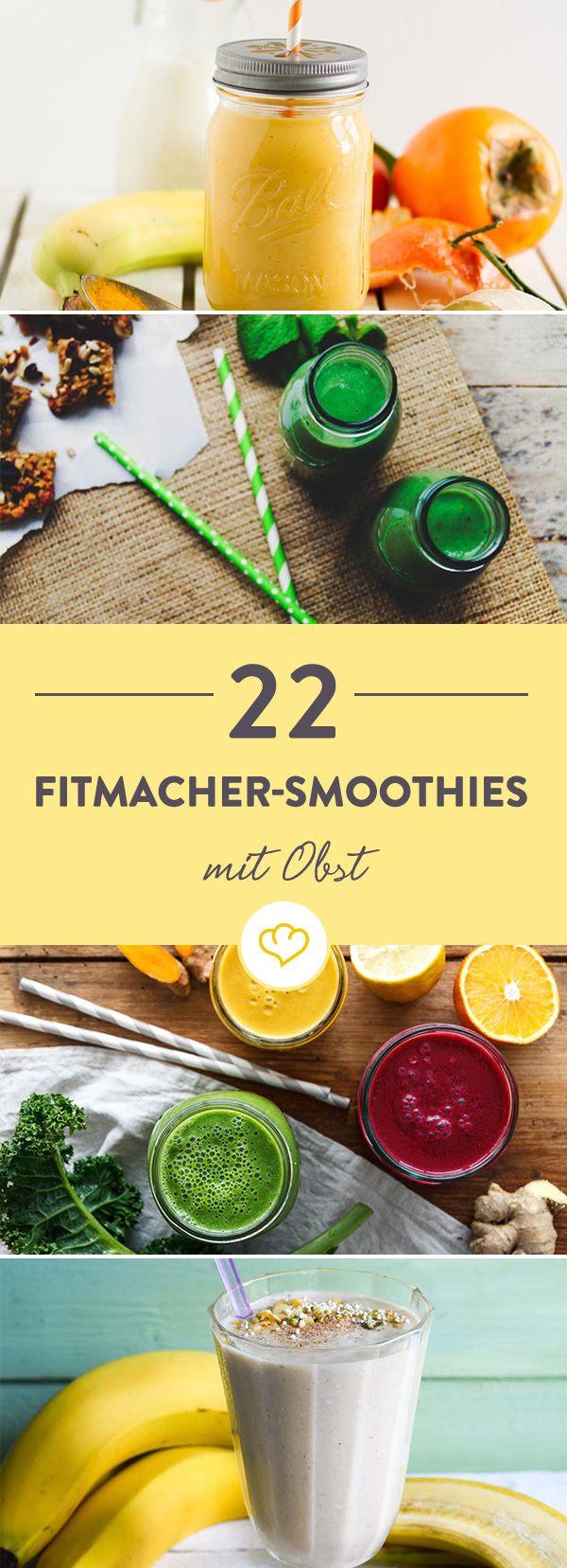 Wir brauchen mehr Farbe im Smoothie-Glas! Probier dich durch rote, gelbe, orange und pinke Superfood-Obst-Smoothies und schlürf dich glücklich.