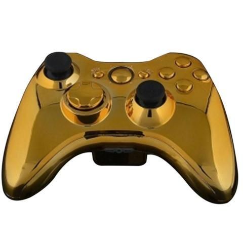 ModFreakz® Shell/button Kit Chrome Collection Gold (NOT A CONTROLLER, For Xbox 360 Controllers). Perfect gaming accessories for Xbox One gamers, game…