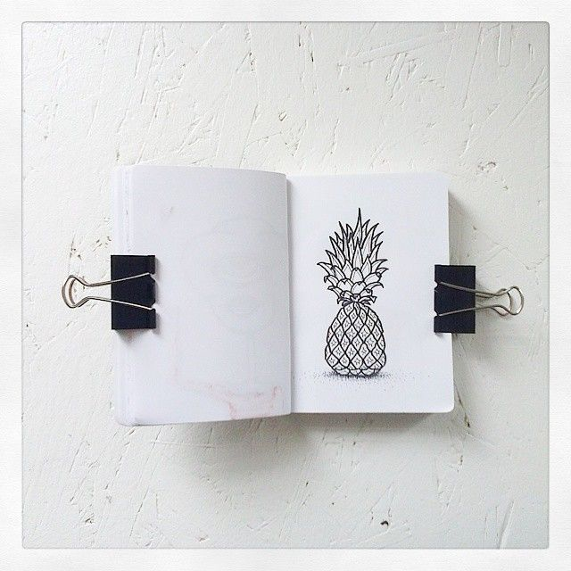 Pineapple.   #pineapple #ananas #sketchbook #illustration #sketch #sketching #draw #drawing #nature #decoration #Design #artist #artjournal #artistsontumblr #artistoninstagram #artwork #brush #livingoutloud #livingoutlouddesign #myownart