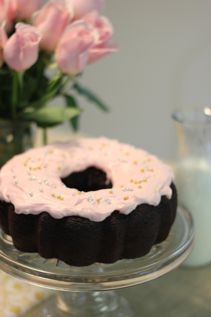 cake rose water chocolate chunk layer cake with rose water frosting ...