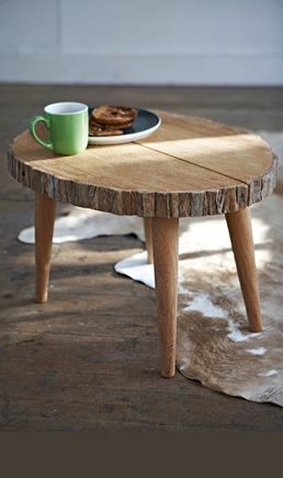 My manly man is going to make me a table like this out of a 5-inch thick slab of oak!