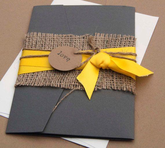Invitation Yellow Wedding By Aimerweddings