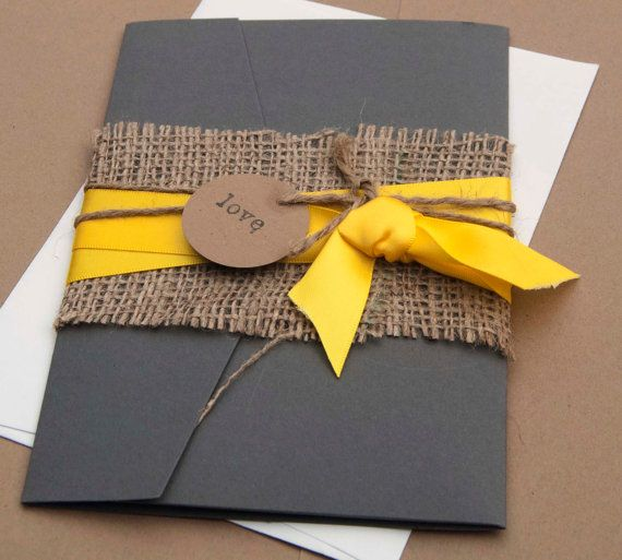 Putting a bright colour against deep grey really makes the colour pop. Love the rustic Hessian too!