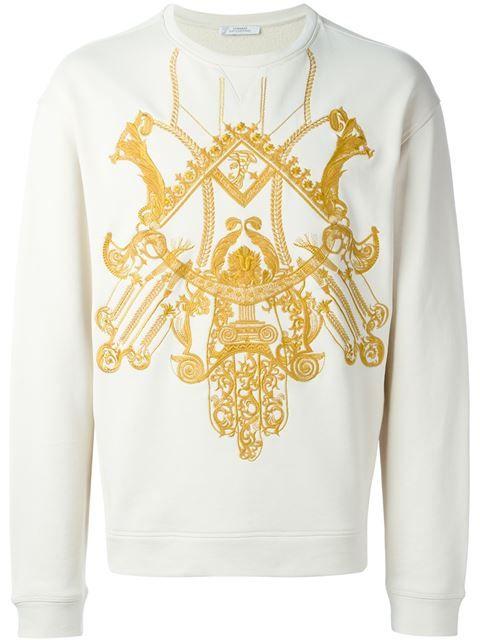 Versace Collection Blusa de moletom com detalhe bordado