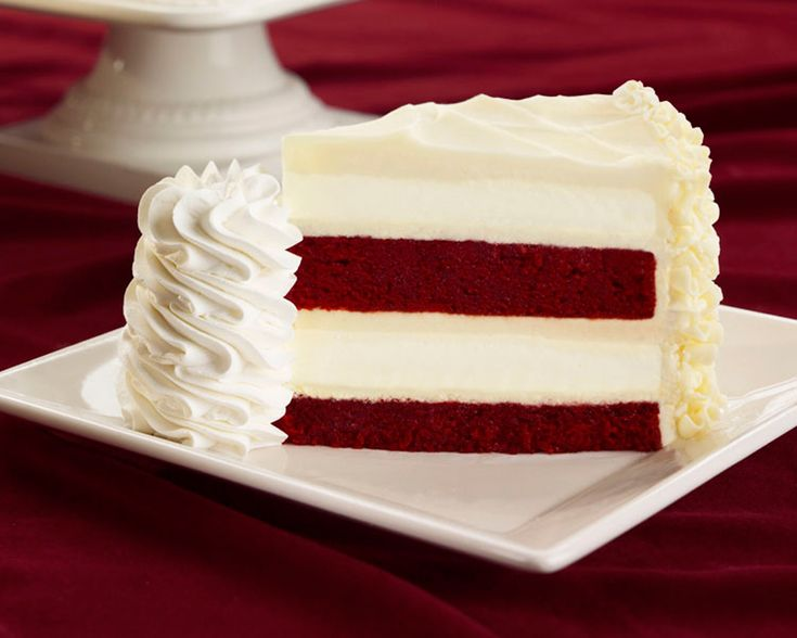 Red velvet cheesecake - Cheesecake Factory ... otherwise known as a slice of heaven on a plate!!!