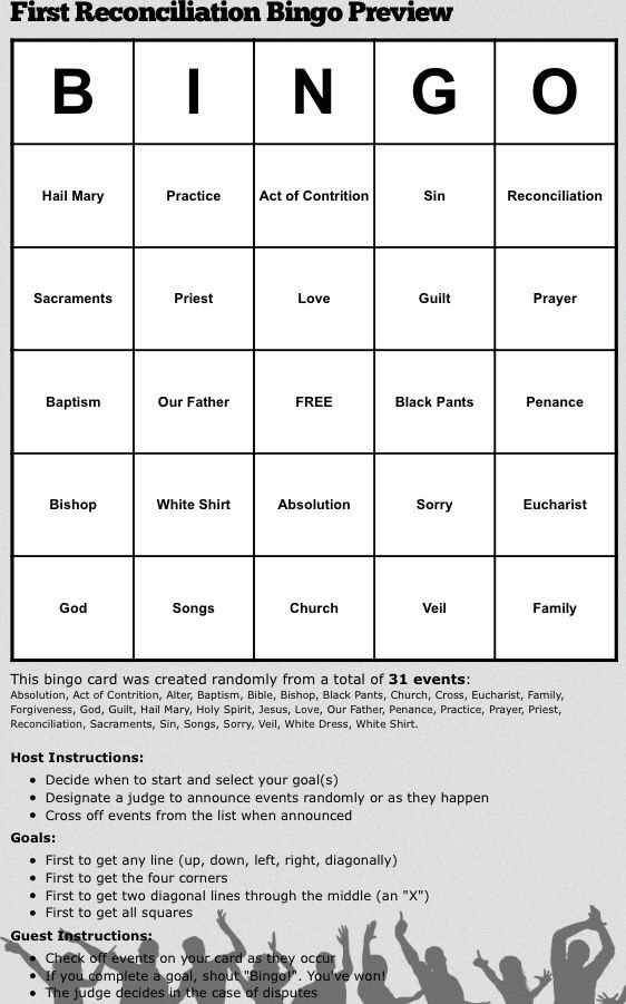 First reconciliation Bingo First