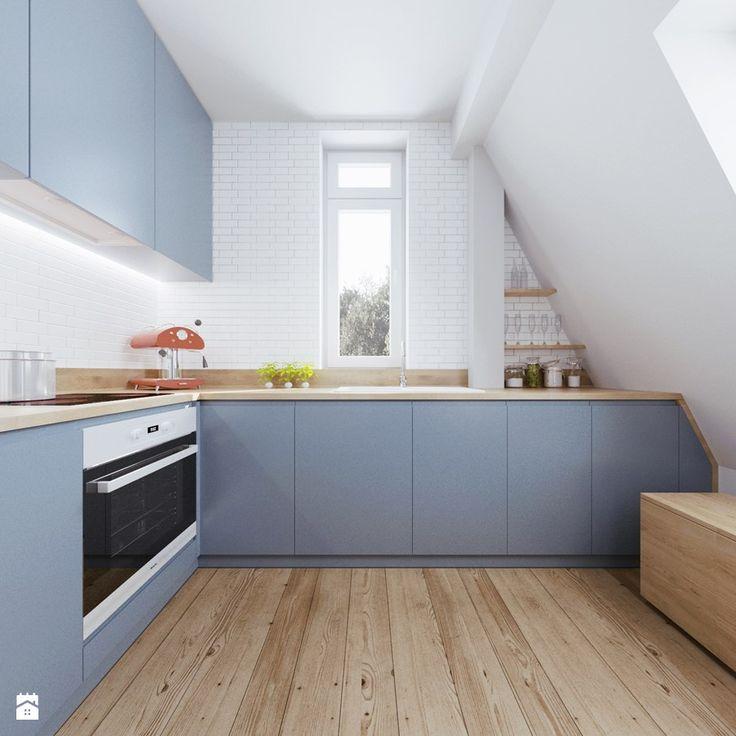 Poddasze AB - Średnia kuchnia, styl skandynawski - zdjęcie od 081architekci