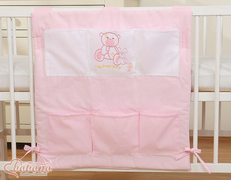 "Pink cot tidy ""Best friends"" / Bobono"