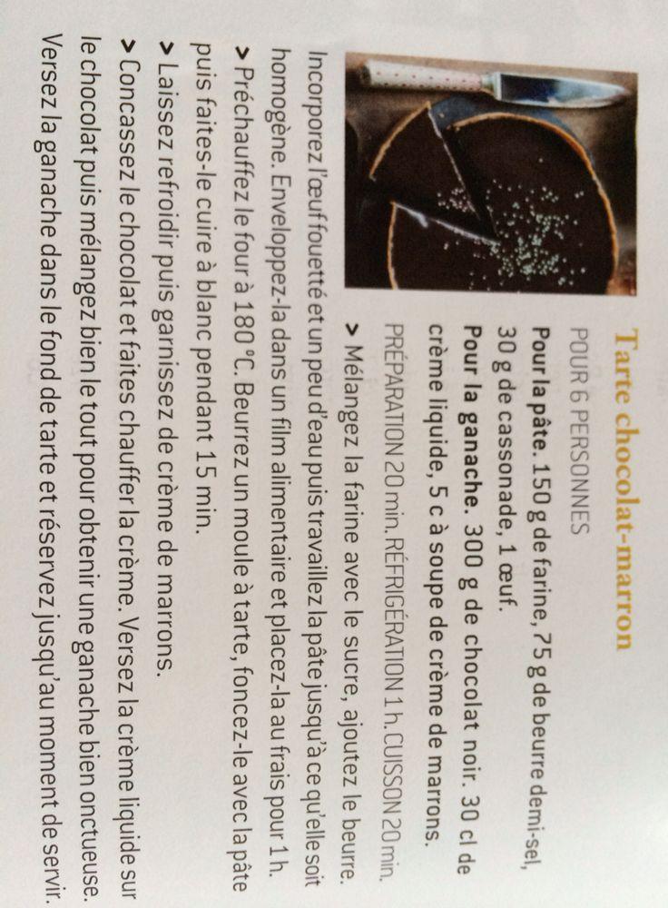 Tarte chocolat marron