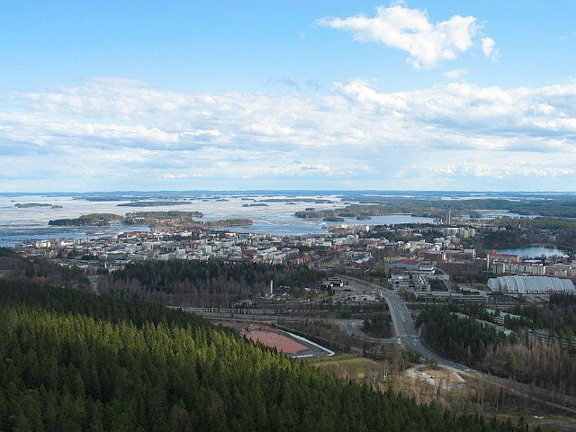 Kuopio, Finland from Puijo tower