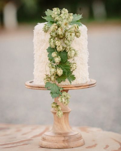 The definition of a rustic wedding cake: http://www.stylemepretty.com/colorado-weddings/2015/01/15/rustic-farm-to-table-wedding-inspiration/ | Photography: Cat Mayer - http://www.catmayerstudio.com/